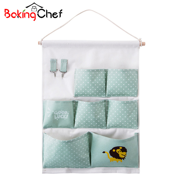 BAKINGCHEF Wall Hanging Organizer Home Office Books Children Toys Sundries  Storage Bags Closet Wardrobe Pouch Case