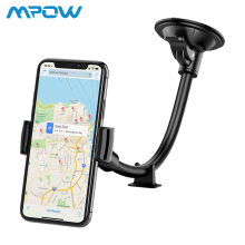 Mpow Universal Car Phone Holder Windshield Dashboard Long Arm Cradle with Extra Base For iPhone