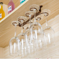 4 12 Wine Glass Rack Hanging Under Cabinet Wine Cup Holder Stemware Storage Rack Display Shelf