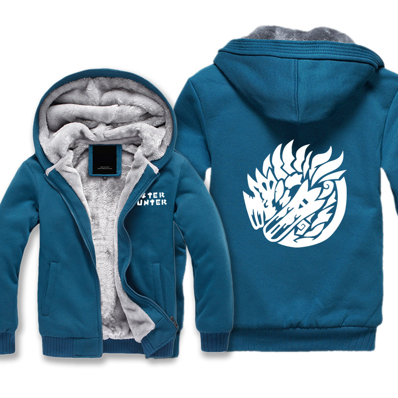 Marque 3D Hoodies Cattton monstre chasseur jeu Animal Dragon Sweatshirts hommes hiver épaissir Sportswear décontracté grande taille 2017 nouveau