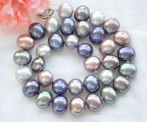 Image 2 - Перламутровое ожерелье с ручной узелкой, 16x19 мм, белого цвета, 18 дюймов, модные ювелирные изделия