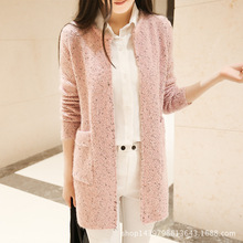 New Winter Women Casual Long Sleeve Knitted Cardigans 2017 Autumn Crochet Ladies Sweaters Fashion Tricotado Cardigan Top Quality