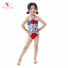 Kaiya Angel New Baby Girl Swimwear Beach Suits Dot Belt Two Pieces Kids Summer Children Clothes Cute 5pcs/lot Factory Wholesale