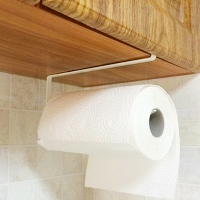 New Easy Diy Paper Roll Holder Iron Paint Hang Towel Tissue