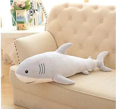 115 cm simulation jouets en peluche requin oreiller bourré de haute qualité poupée cadeau d'anniversaire - 5