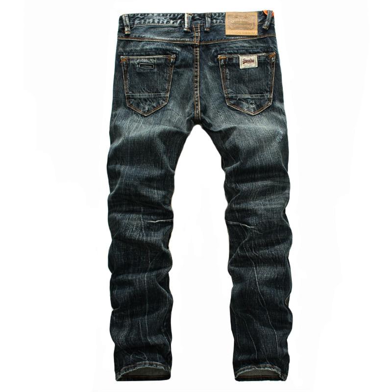 Бренд 2018 Новый Обычный минималистский стиль джинсовые комбинезоны середине талии полная длина мужской стиральная ковбойские джинсы локом...