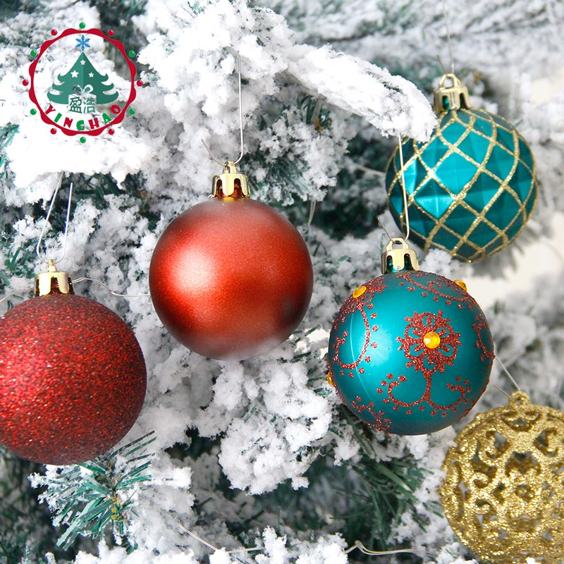 inhoo 6cm christmas tree decorations balls ornaments pendant 20pcs red green white gold ball accessories for home xmas party hot in ball ornaments from home