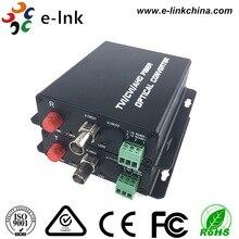 1Ch 720 P TVI de vídeo al convertidor de fibra con el transmisor y el receptor con datos Rs485