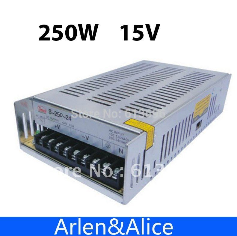 250W 15V 16.6A Single Output Switching power supply for LED Strip light AC to DC 1200w 48v adjustable 220v input single output switching power supply for led strip light ac to dc