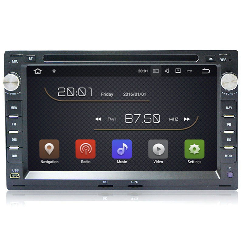 1G RAM Quad Core Android 7.1 Car DVD GPS For Old VW Transporter T4/T5 Bora Passat Mk5 Golf Mk4 Polo Jetta Peugeot 307 1998-2008