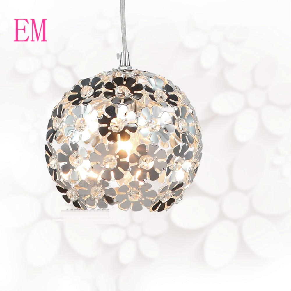 Schöne Silber Blume Kristall anhänger Led leuchten Aluminium Hängen ...