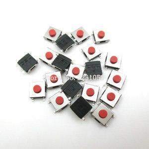 Image 1 - 100 ピース/ロット 6*6*3.1 ミリメートルsmdスイッチ 4 ピンタッチマイクロスイッチプッシュボタンボートロッカーレッドスイッチsmdタクトスイッチ