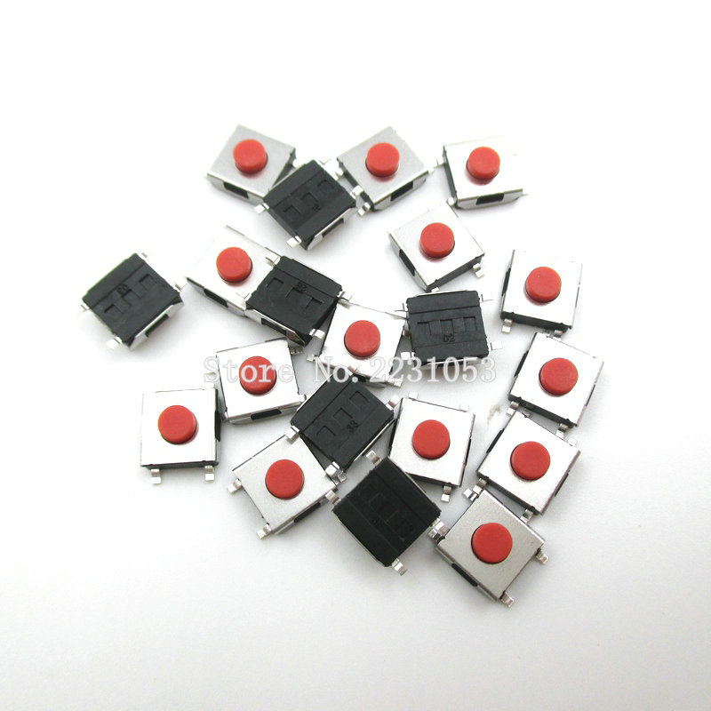 100PCS/LOT 6*6*3.1 mm SMD Switch 4 Pin Touch Micro Switch Push Button Switches Red SMD Tact Switch 1kg 100% natural