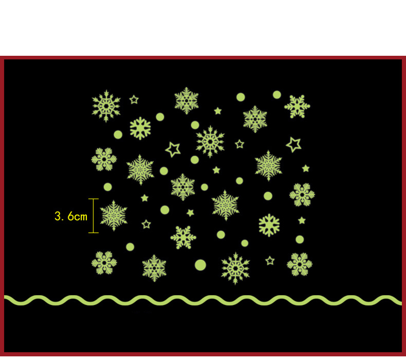 2019 New Year Merry Christmas Decorations for Home Luminous Snowflake Background Decorative Sticker Removable Navidad Natal (3)