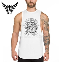 Muscleguys Brand New Arrivals Gyms Shark Desiagn Weightlifting Clothing Fitness Shirts Mens Bodybuilding Stringer Tank Top