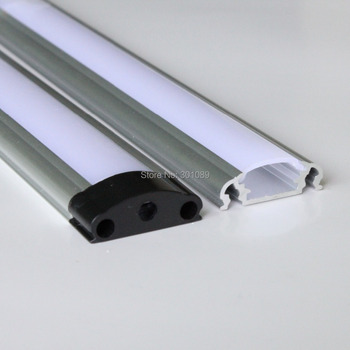 40m (20pcs) a lot, 2m per piece, led aluminum profile for led strips with milky diffuse cover or transparent cover