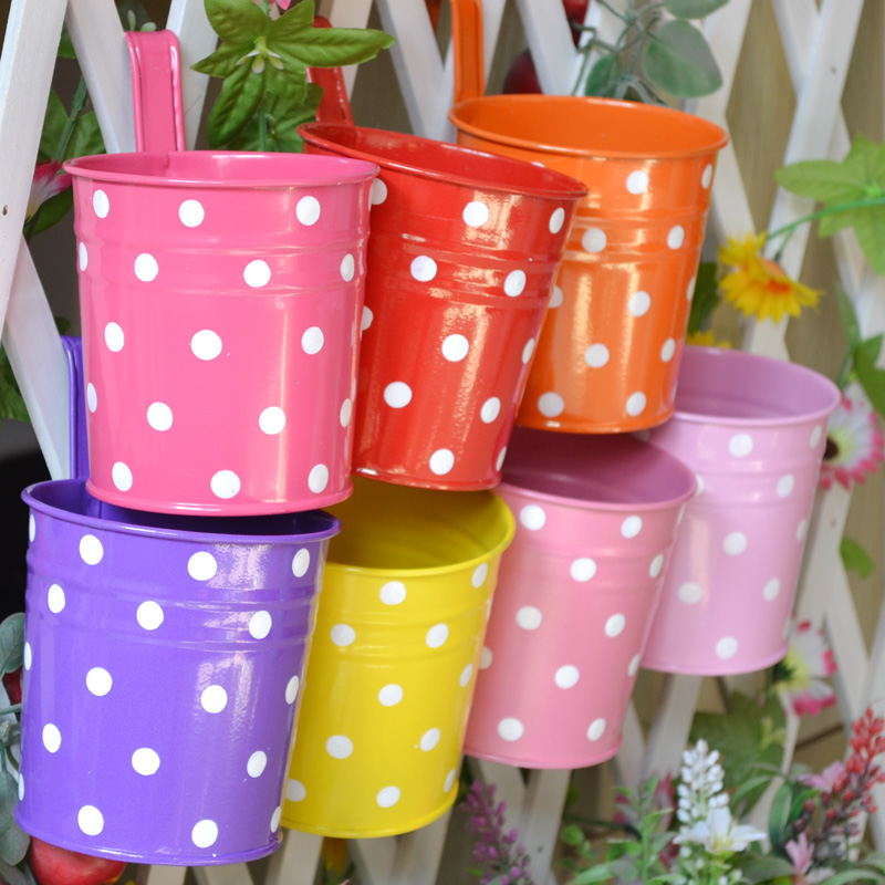 2pcs Set Past Hanging Iron Metal Flower Pots Vase Barrel Sticker Bucket In Planters From Home Garden On Aliexpress Alibaba Group