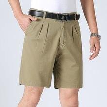 1dc16ee420ffb2 2018 Summer Solid Casual Men Dress Short Pockets Slim Thin Knee Length Hot  Sale New Brand Plus Size Men's Shorts GD778