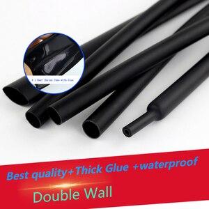 4:1 rurka termokurczliwa z klejem samoprzylepna podwójna ścianka termokurczliwa termokurczliwa folia termokurczliwa zestaw tulei kablowych 4mm-52mm