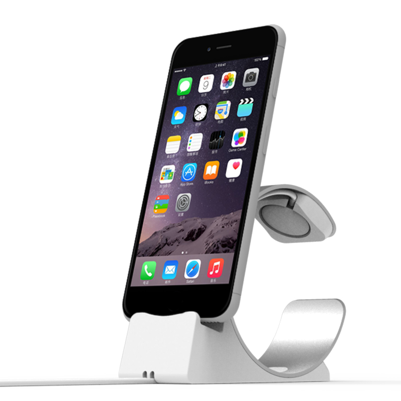 Charging Desk Station Stand Holder Bracket for iPhone 8 X 7 6 S 6S Plus Apple Watch iWatch Series 1 2 3 Accessory