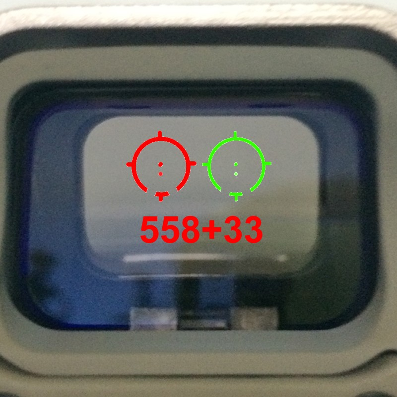 PPT hunting scopes <font><b>558</b></font>+33 3x Magnifier Scope Sight holographic sight red green dot scope sight red dots with STS Mount GZ2-0113 image