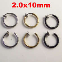 10pcs/lot Fake Nose Ring Goth Punk Lip Ear Nose Clip