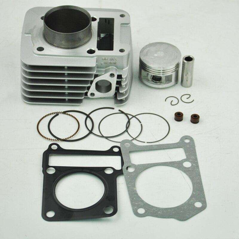 LOPOR 54mm Cylinder KIT Big Bore Kit Piston Set Top End Gasket for Yamaha YBR125 Motorcycle Air-Cooled цены