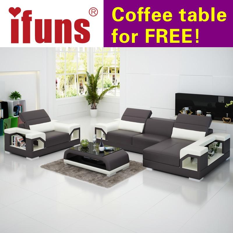 IFUNS Modern Design Genuine Leather Sectional Sofa Set/cow Italian Leather  Sofa Set Living Room Furniture In Living Room Sofas From Furniture On ...