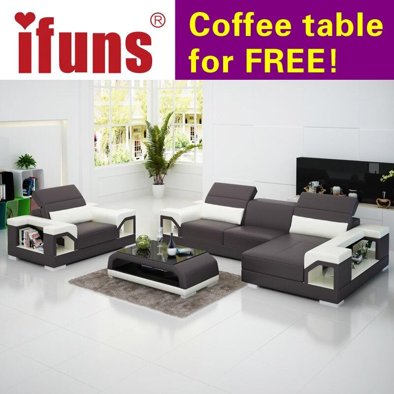Ifuns Modernes Design Echtes Leder Sofagarnitur Set/kuh Italienischen Leder  Sitzgruppe Wohnzimmer Möbel In Ifuns Modernes Design Echtes Leder  Sofagarnitur ...