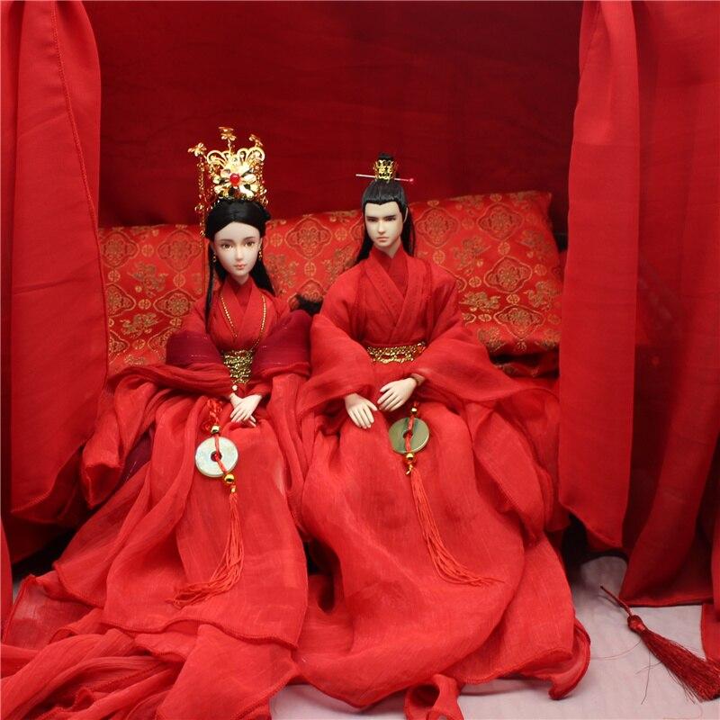 고대 중국 웨딩 인형 신부와 남편 의상 인형-에서인형부터 완구 & 취미 의  그룹 1