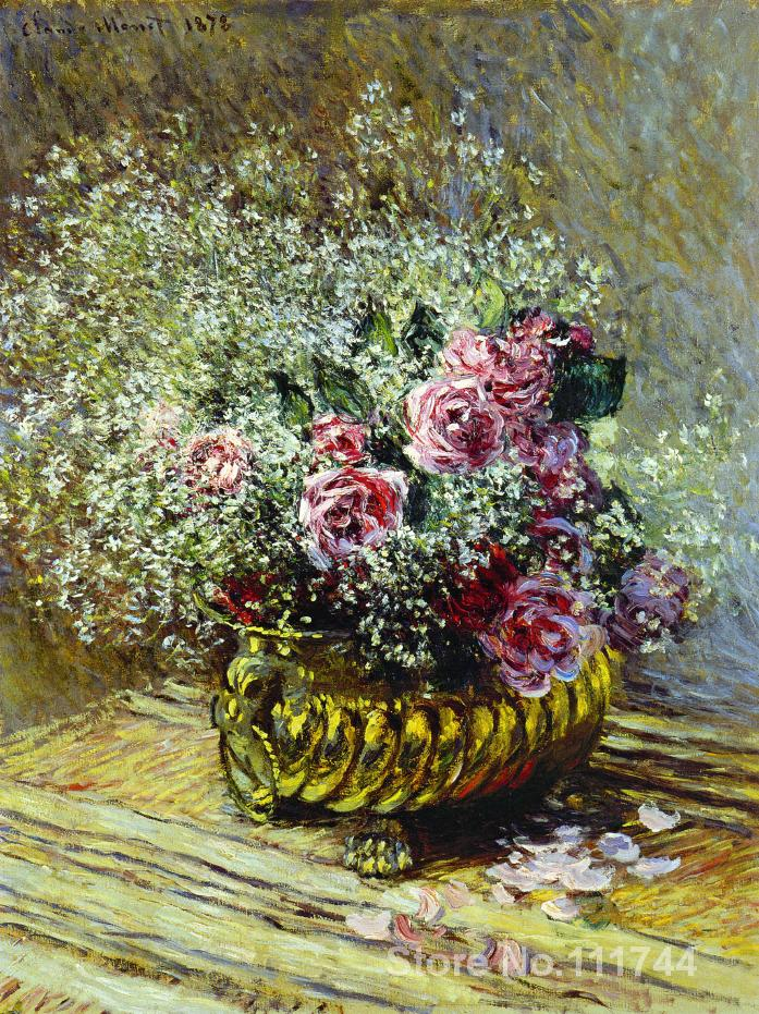 Flowers in a Pot Claude Monet painting Decorative art Handmade High qualityFlowers in a Pot Claude Monet painting Decorative art Handmade High quality