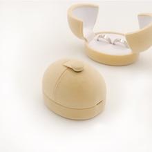 1 Piece Egg Sharp Double Velvet Engagement Earrings Wedding Rings