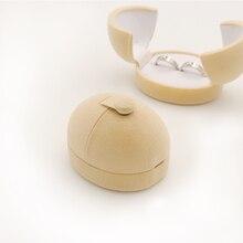 1 PC. egg sharp double velvet wedding earrings Wedding rings Gift box for two rings stand for decoration on the showcase packaging wholesale