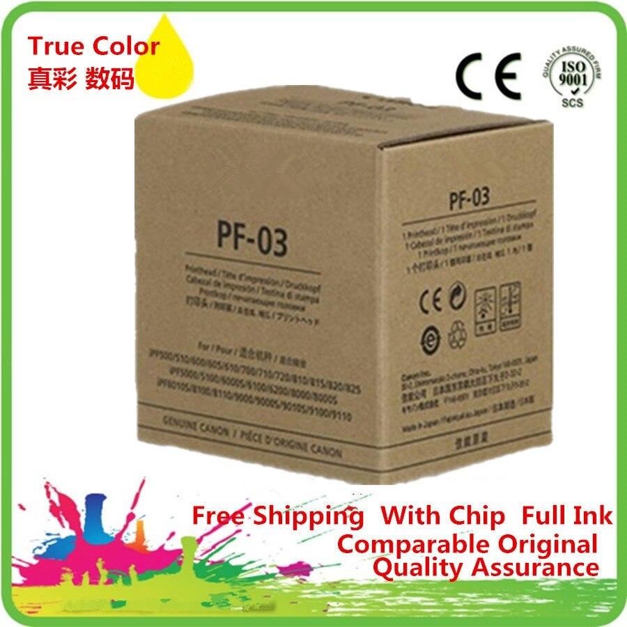 PF-03 PF 03 PF03 Printhead Print Head Remanufactured For Canon iPF825 iPF5000 iPF5100 iPF6000S iPF6100 iPF6200 iPF8000 iPF8000S original best price ipf printer pf 03 print head for canon ipf5000 5100 6000s 6100 6200