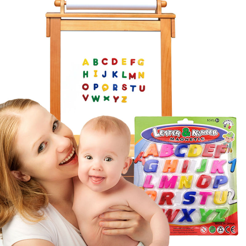 26pcs English Word Toy Colorful ABC Alphabet Fridge Magnet Baby Kid Early Learning Educational Toy