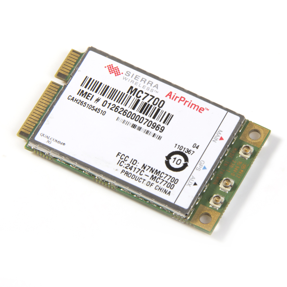Unlocked Sierra MC7700 Wireless 3G WWAN GPS module 3G HSPA LTE 100Mbps WWAN PCI-E Card GPS For laptop notebooks tablet new unlocked sierra mc8780 wireless 3g wwan 7 2mbps hsupa hsdpa umts gprs gps edge module mini pci e card for dell acer asus