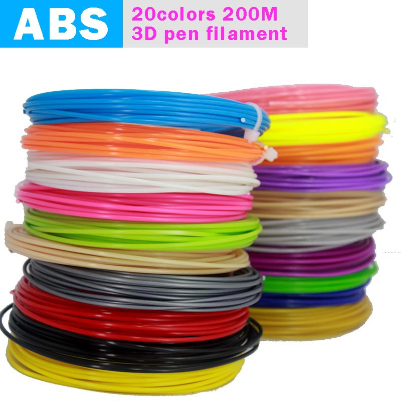 2018 Real New Bapasco <font><b>3d</b></font> <font><b>Pen</b></font> For <font><b>Filament</b></font> Thread 100m Or 200m 1.75mm Abs 20 Different Colors For Printing <font><b>Pens</b></font> Wire Rod Linear image