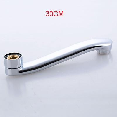 Роскошный высококачественный металлический материал хромированная отделка S Форма 18 до 30 см Длина Носик кухонного крана X4452 - Цвет: Фиолетовый