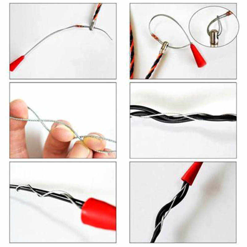 Electrician Wire Threading Device Binders Kit Cable Guider Puller Wiring on