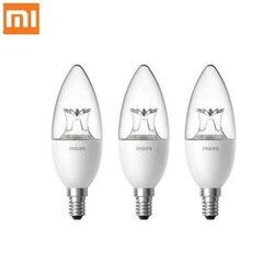 Oryginalny Xiao mi inteligentne świeca kształt lampy LED E14 żarówka światła 3.5W 0.1A 220 240V 50/ 60Hz bezprzewodowy pilot zdalnego sterowania przez mi App domu D5 w Inteligentny pilot zdalnego sterowania od Elektronika użytkowa na