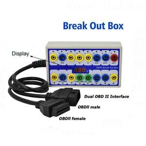 Image 2 - Maozua OBDII OBD2 Breakout Box Auto OBD 2 Break Out Box Auto Protokoll Detector Auto Können Test Box Automotive Stecker auto detektor