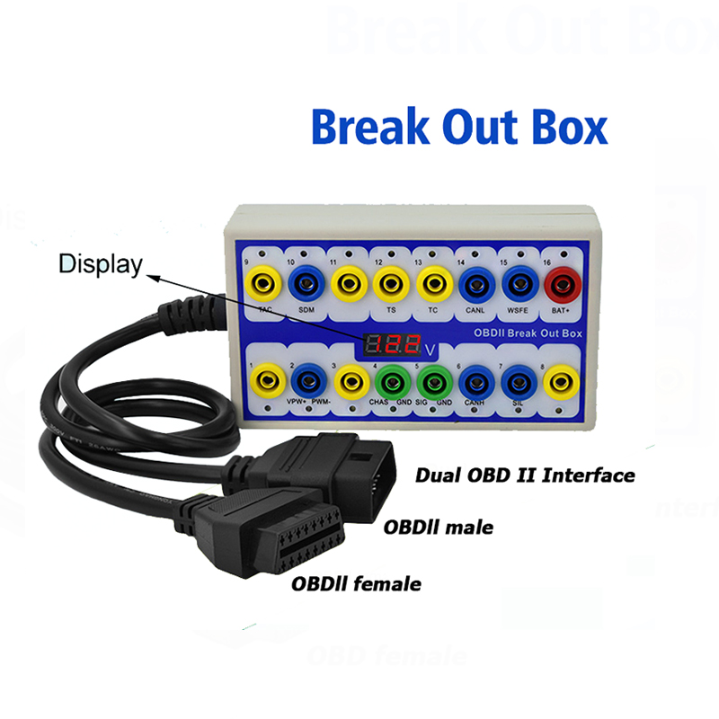 Image 2 - Maozua OBDII OBD2 Breakout Box Car OBD 2 Break Out Box Car Protocol Detector Auto Can Test Box Automotive Connector Car detector-in Electrical Testers & Test Leads from Automobiles & Motorcycles