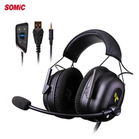 SOMIC Best Gaming headphone USB 7.1 Virtual Headsets Noise Cancelling casque with Microphone for PC Computer Gamer PX4 X box one