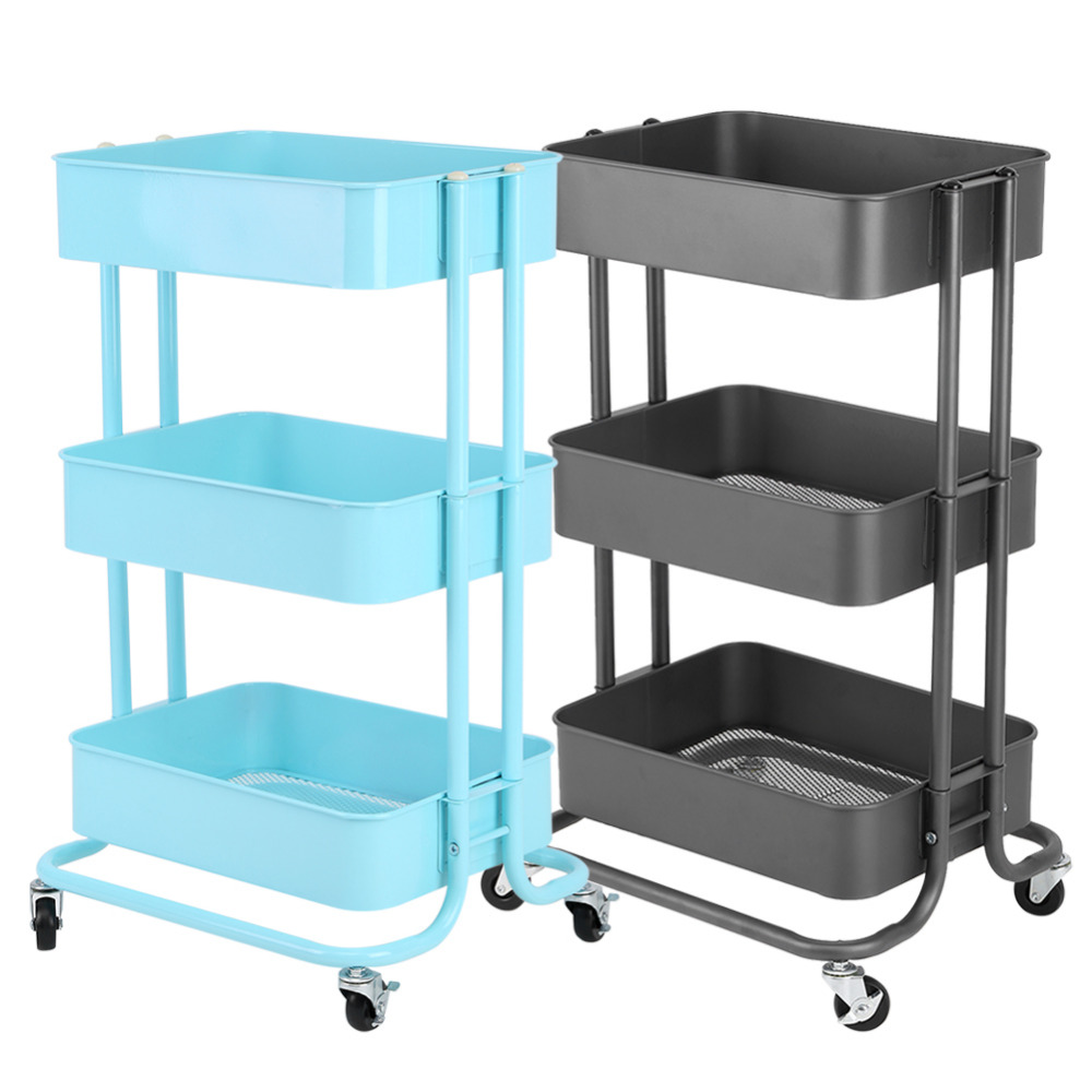 3 Tiers Standing Save Space Storage Rack Shelf Holder