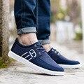 Мужчины прохладный повседневная открытый холст обувь классические низкие плоские туфли мужчины досуг улица темно-синий обувь zapatos хомбре человек моды обувь
