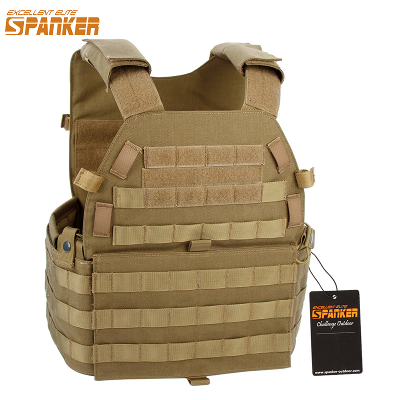 EXCELLENT ELITE SPANKER Outdoor Molle Hunting Vests Military Camouflage Tactical Vest Outdoor Jungle CS Equipment For Men's Vest