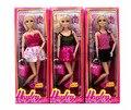 Мода 12 Суставов подвижные Пластиковые Куклы diy Играть дома с аксессуарами обувь для барби куклы bjd детские игрушки
