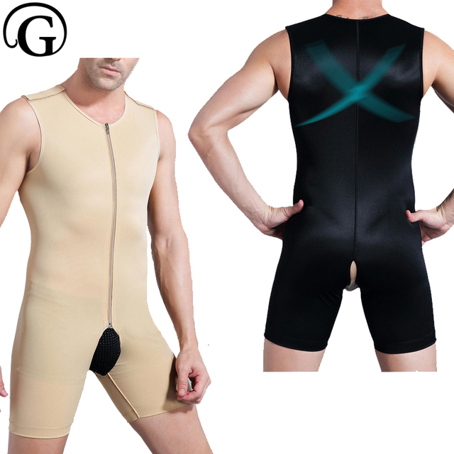 ba25aebd3 PRAYGER Men Gynecomastia Slimming Full Body Shaper Sleeveless Waist Trainer  Bodybuilding Shapewear Control Boobs Bodysuits