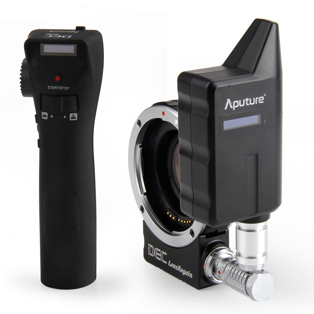 Aputure DEC Lens Regain Wireless Remote Follow Focus Lens Adapter with Focal Reducer 0.75X Focus Reducing for MFT EF-mount Len aputure dec vari nd nd8 to nd2048 using ef mount lenses to e mount cameras