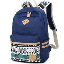Ethnic Women Backpack for School Teenagers Girls Vintage Stylish School Bag Ladies Canvas Backpack Female Back